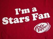 Dr. Pepper I'm A Stars Fan & Pepper Red Slogan DP Snapple Dallas TX T Shirt XL