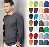 Gildan Ultra Cotton (Pack of 3) Mens Crewneck Long Sleeve T-Shirt S-5XL - 2400