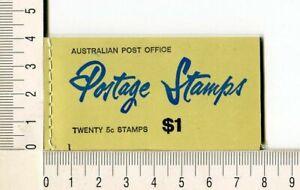 41135) AUSTRALIA 1967 MNH** QEII 5c (x20) n.386c  Booklet SG B43 -Imperf L & R