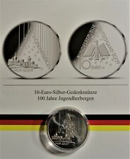 10 EURO 2009 G SILBER: 100 Jahre Jugendherbergen st/unc + Kapsel & Zertifikat