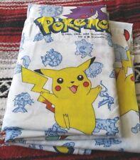 Vintage Pokemon 1998 Twin Flat Bed Sheet Nintendo 90s Vtg Bedding Bed 90s EUC
