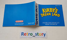 Nintendo Game Boy Kirby's Dream Land Notice / Instruction Manual