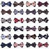 Men's Business Floral Pattern Pre-tied Bow Tie Adjustable Bowtie Wedding Party