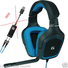 Logitech G430 Surround Sound Headset Kopfhörer 7.1 OHNE USB Audio Adapter, OVP