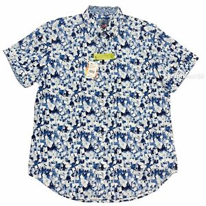 Robert Graham Mens Large Shirt Short Sleeve Button Front Roswell Classic Fit NWT