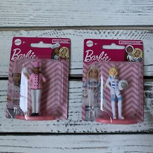 Barbie Chef & Astronaut Mini Figure, Cake Topper, Toy, Collectibles NEW