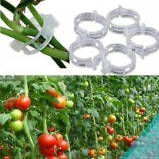 100pcs Plant Clips Tomato Clips Vines Twine Trellis Connects Durable White New