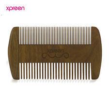 Wooden Hair Engraved Natural Peach Wood Comb Anti-Static Beard Comb Tool w/ Bag