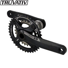 Truvativ X9 MTB Crankset 180mm 42-28T BB30 2x10spd Black/Grey (No BB)