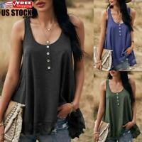 US Women's Casual Lace Camisole Vest Ladies Summer Sleeveless Swing Tank Tops