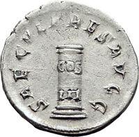 PHILIP I the ARAB 1000 Years of Rome Colosseum COLUMN Silver Roman Coin i65247
