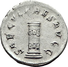 PHILIP I the ARAB 1000 Years of Rome Colosseum COLUMN Silver Roman Coin i65247