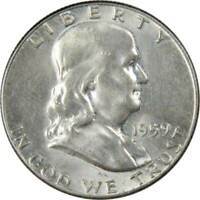1959 50c Franklin Silver Half Dollar US Coin AU About Uncirculated