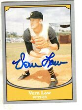 Signed VERN LAW 1990 Pacific Legends Card #37 - COA