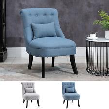 Relaxsessel mit Rückenkissen Sessel Fernsehsessel Erhöhte Füße Leinen 2 Farben