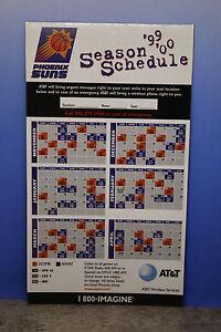 Phoenix Suns 1999 2000 Magnet Schedule AT&T NBA