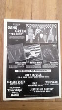 GANG GREEN / CIRCLE JERKS UK magazine ADVERT/Poster/clipping 11x8 inches
