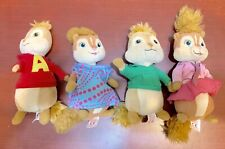 Alvin and the Chipmunks Set of 4 Plush TY Beanie Babies Alvin Theodore Brittany