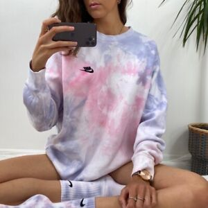 Nike sweatshirt lilac and pink tie-dye size extra large. Brand new.