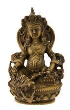 Statue tibetaine Jambhala Dieu des Richesses Vaishravana 11cm beige 25541
