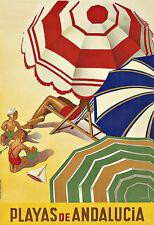 Art Ad Playas De Andalucia  Travel  Deco   Poster Print
