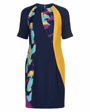Jaeger Swirl Print Dress Blue Size UK 8 rrp £199 DH172 BB 05