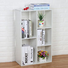 Shelving Book Shelf Unit 5 Cube Storage Bookcase Display Cabinet Wood  Furniture