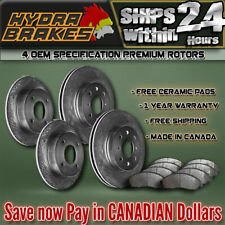 FITS 2004 2005 GMC SAFARI 330MM OE BLANK BRAKE ROTORS CERAMIC