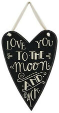"""Primitives by Kathy #23280 heart chalk art sign quote, """"Love You to the Moon..."""""""