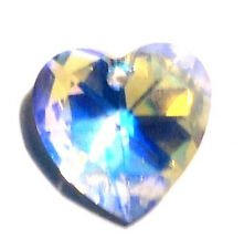 28mm Swarovski AB Aurora Borealis Heart Crystal Prisms Wholesale CCI