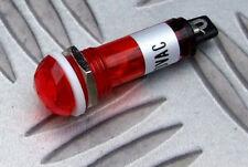 Indicatore al Neon per Montaggio Pannelli (10mm) FORO Rosso 230v saldare i terminali vintage