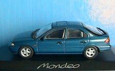 FORD MONDEO 4 DOORS BLEU VERT MINICHAMPS 1/43 SALOON 1993 BERLINE 4 PORTES