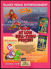 TEEN WOLF / MIRTHWORMS__Original 1989 Trade Print AD promo__animated TV cartoon