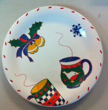 Crate & Barrel Christmas Hot Coco Plate