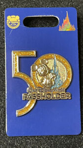 Disney 50th Anniversary Mickey Mouse Passholder Pin New OE Pin In Hand