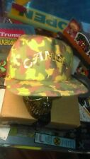 Vintage 80s Camel Cigarettes Camo Snapback Trucker Hat Cap USA Tobacco RARE