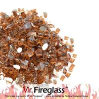 "Mr. Fireglass 1/4"" Reflective Fire Glass with Fireplace Fire Pit 10 lb Copper"
