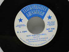 The Rays of Sunshine 45 RAYS BAR AND GRILL /  KNOW YOU IS TO LOVE YOU ~ Royal VG