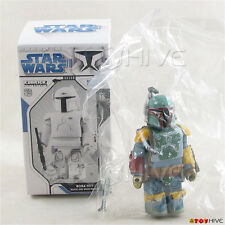 "Star Wars Kubrick Boba Fett Chase with Jaig Eyes 2"" Figure w/ box loose"