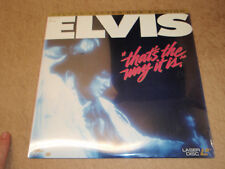 Elvis Thats The Way It Is Laserdisc SEALED LD