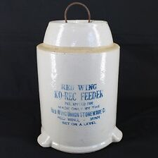 Red Wing Ko-Rec Feeder Waterer Top Chicken Poultry Stoneware Crock