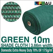 70% GREEN Shadecloth 3.66m x 10m Domestic Heavy Duty Shade Cloth