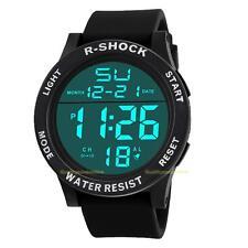 Men Women Chic Waterproof LED Digital Date Quartz Watch Rubber Sport Wrist Watch