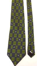"NEW! LAGERFELD HOMME 100% SILK BLUE GREEN TIE 59"" LONG 4"" WIDE MADE IN ITALY"