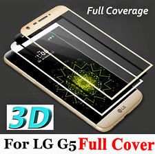 For LG G5 3D Full Cover Curved 9H Tempered Glass Flim Screen Protector Cover