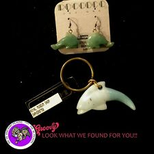 First Nation Haida Green 'Dolphin Key Chain and Earrings' Royal Museum Canada