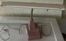 Nice Gently Used Vintage Flourescent Desk Lamp - Adjustable Gooseneck - WORKING