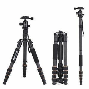 ZOMEi Q666C Carbon Fibre Tripod Monopod w/ Ball Head For DSLR Camera Camcorder