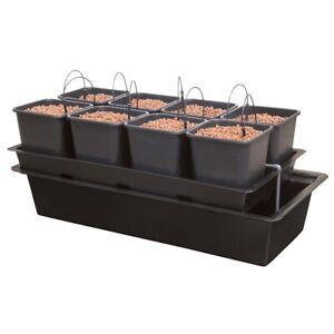 8 Pot Wilma Hydroponic Dripper System 11L Pots