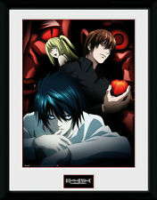 Death Note Light L and Misa - Mounted & Framed Print